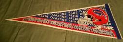 1992 Buffalo Bills AFC Champs pennant Super Bowl XXVII Jim K