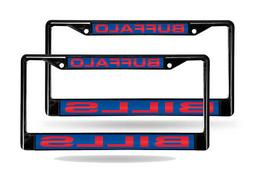 Buffalo Bills Black Metal  Laser License Plate Frame Set