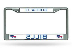 BUFFALO BILLS CHROME METAL LICENSE PLATE FRAME NEW & OFFICIA