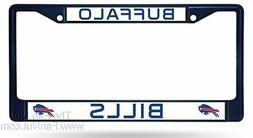 Buffalo Bills CUSTOM NAVY Frame Metal Chrome License Plate T