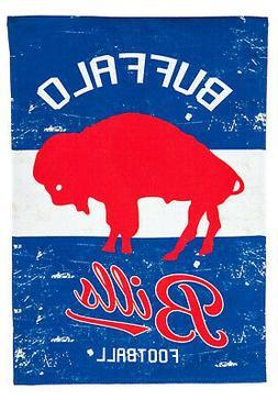 Buffalo Bills EG VINTAGE Retro 2-sided GARDEN Flag Linen Ban