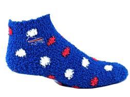 Buffalo Bills NFL Football Blue Fuzzy Quarter Socks White Re