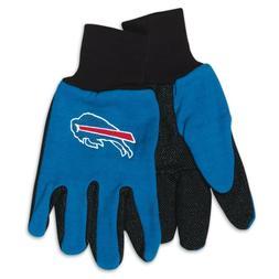 Buffalo Bills Gloves Non Slip Work Utility Adult NFL Footbal