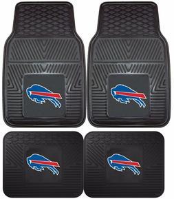 Buffalo Bills Heavy Duty NFL Floor Mats 2 & 4 pc Sets for Ca