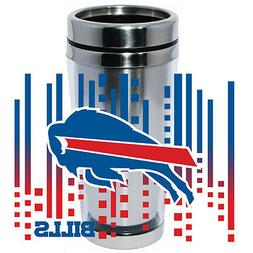 Buffalo Bills Logo Travel Mug Tumbler Stainless Steel NEW Cl