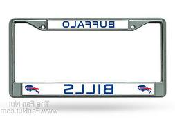 Buffalo Bills New Design Metal Chrome License Plate Tag Fram