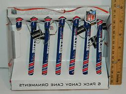 Buffalo Bills NFL CANDY CANE CHRISTMAS ORNAMENT 6 Count in p