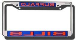 Buffalo Bills PV LASER FRAME Chrome Metal License Plate Tag
