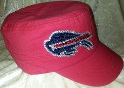 Buffalo Bills Rhinestone Women's Bling Cadet Style Cap Hat ~