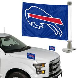Buffalo Bills Set of 2 Ambassador Style Car Flags - Trunk, H