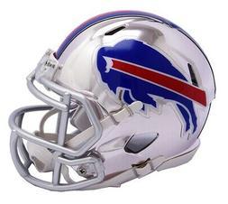 Buffalo Bills Riddell Speed Mini Helmet - Chrome Alternate