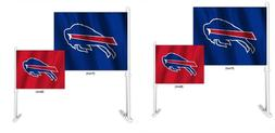 Buffalo Bills Two Color Home and Away Car Flag