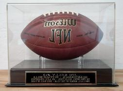 Football Display Case With A Jim Kelly Buffalo Bills Engrave