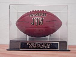 Football Display Case With A Tyrod Taylor Buffalo Bills Engr