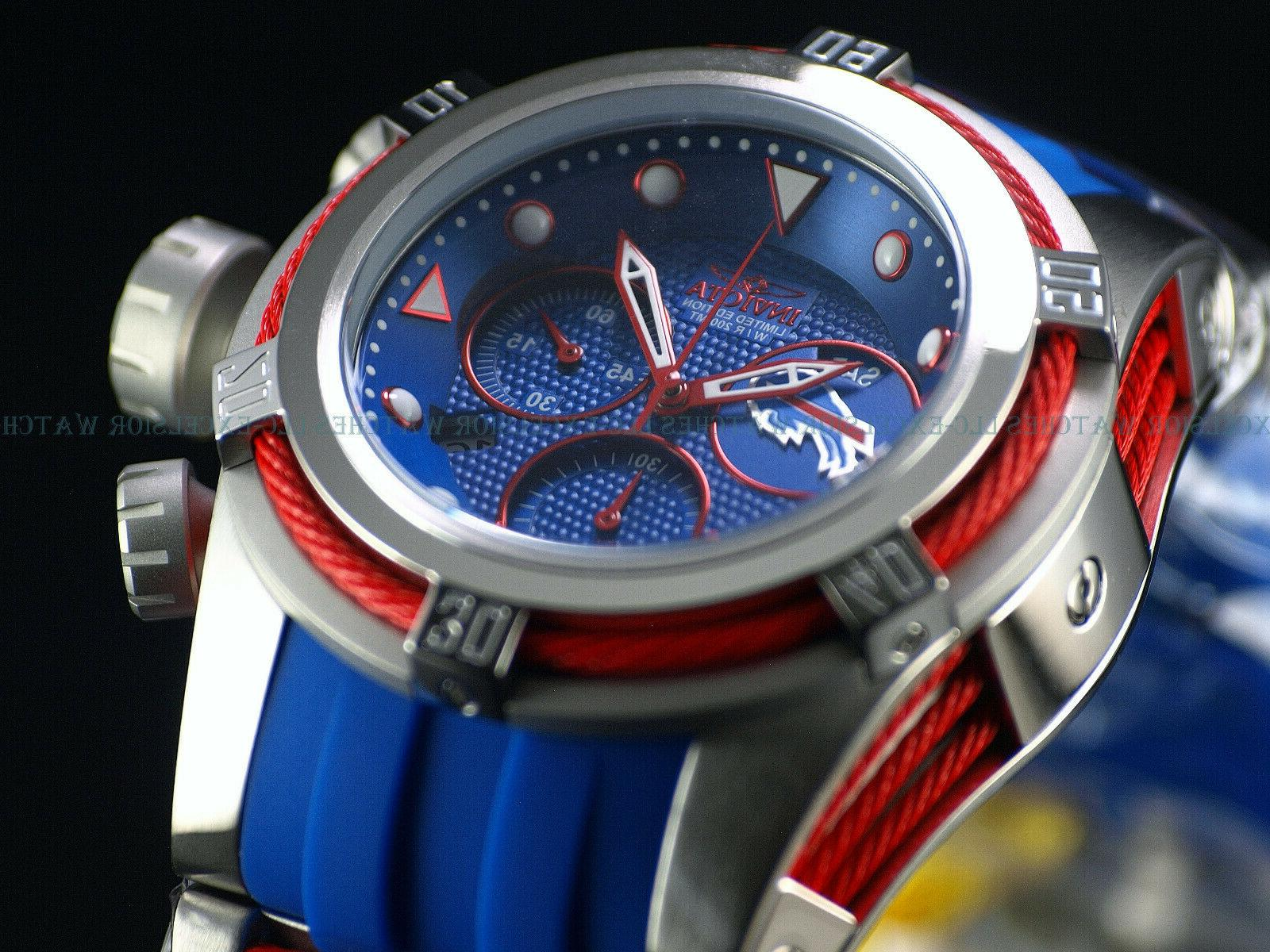 Invicta 52mm Mens Zeus NFL Swiss Chrono Silicone Strap Watch