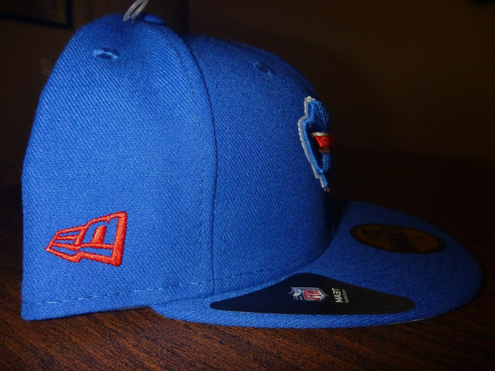 BUFFALO BILLS NEW 59FIFTY NFL FIELD TEAM BASIC BLUE HAT