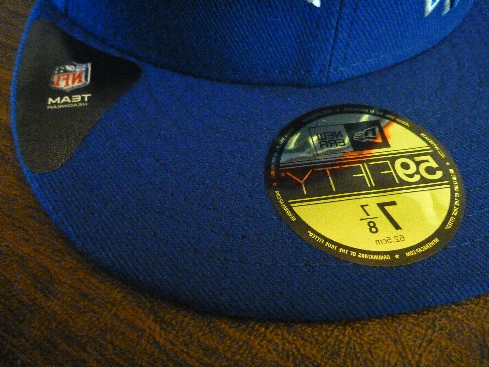 BUFFALO BILLS 59FIFTY NFL TEAM BASIC BLUE HAT SIZE 7 7/8