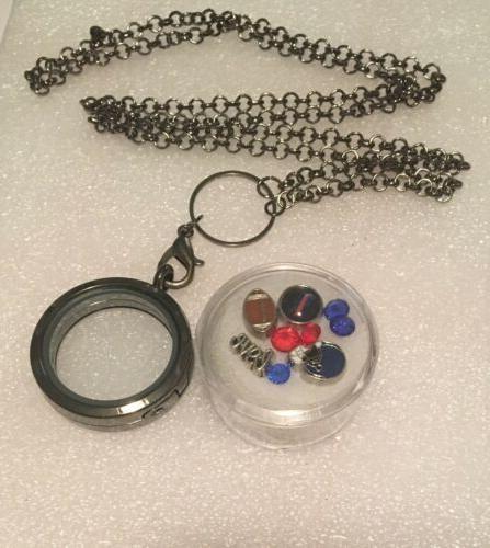 buffalo bills floating memory necklace