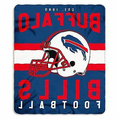 New NFL Buffalo Bills Helmet Logo Soft Fleece Throw Blanket