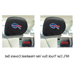 New 2pc NFL Buffalo Bills Gear Car Truck Suv Van Headrest Co