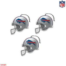 New NFL Buffalo Bills Paper Hanging Air Freshener 3 pack Off
