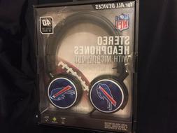 NFL BUFFALO BILLS Mizco 4D Steel Cut Logo STEREO HEADPHONES*