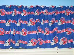 "NFL Buffalo Bills BLUE White Red Handmade 57"" Wide Window Cu"