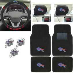NFL Buffalo Bills Car Truck Floor Mats Steering Wheel Cover