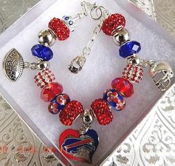 nfl buffalo bills crystal european team charm