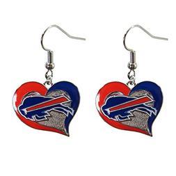 Brand New NFL Buffalo Bills Swirl Heart Earring Dangle Charm