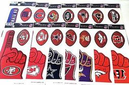 NFL Team Logo Ultra Decal Bumper Stickers plus Number 1 Fan