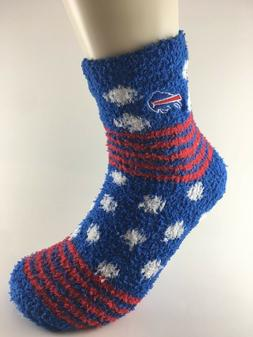 Official NFL Football Buffalo Bills Striped Fuzzy House Slee