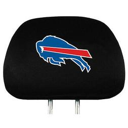 Pair of Buffalo Bills Head Rest Covers - NEW! Truck Car Auto