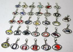 Sports NFL Football Team Lobster Clasp Dangle Pendant Charm