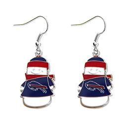 Sports Team Buffalo Bills Snowman Dangle Charm Logo Earring