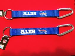 TWO  BEAUTIFUL AND HANDY, BUFFALO BILLS CARABINER KEYCHAINS