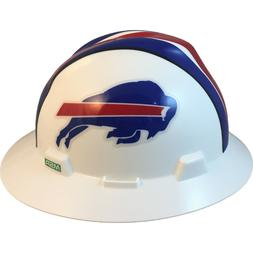 "MSA V-Gard FULL BRIM BUFFALO ""BILLS"" NFL Hard Hat Type 3 RAT"